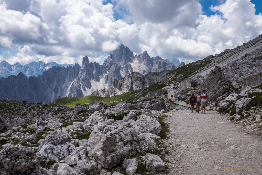 Weg von der Auronzohütte