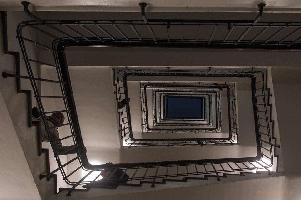 Esplanadebau Rückseite Treppe