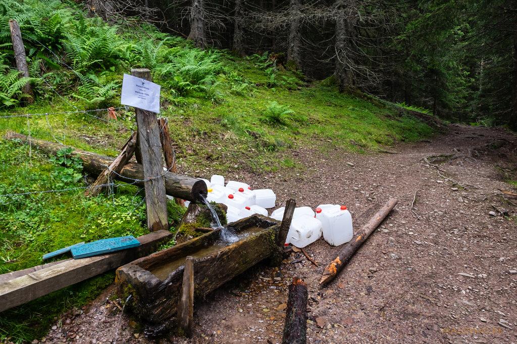 Wasserversorgung Werfener Hütte