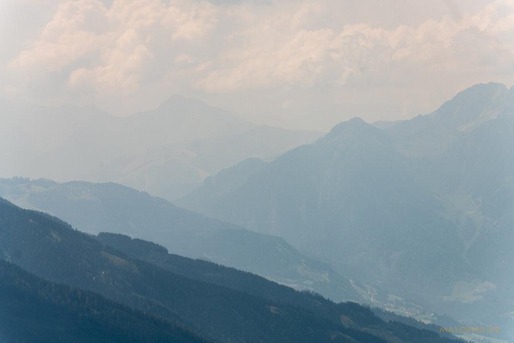 Berge im Dunst